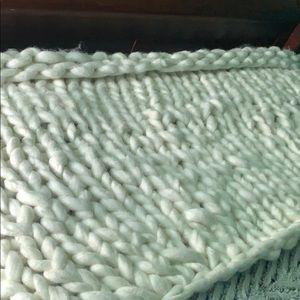 Half chunky blanket hand made